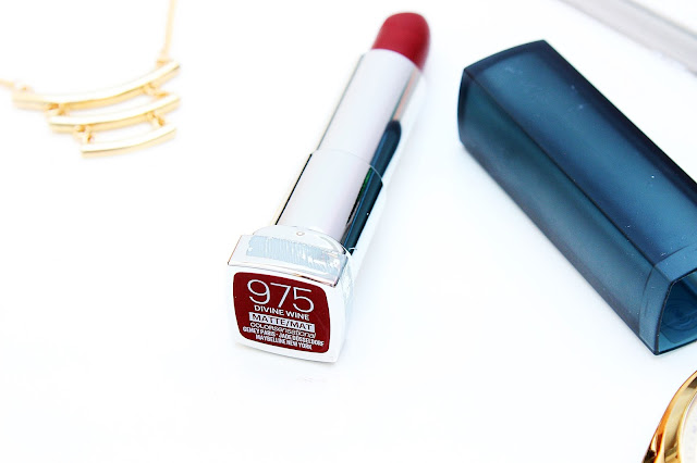maybelline 975 divine wine matte colour sensational lipstick