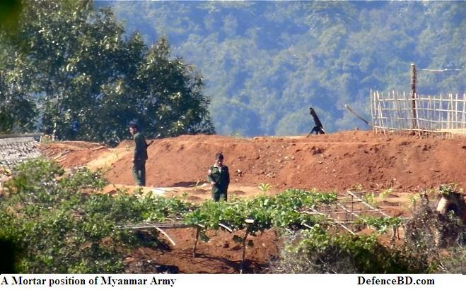 Mortar position of Myanmar Army