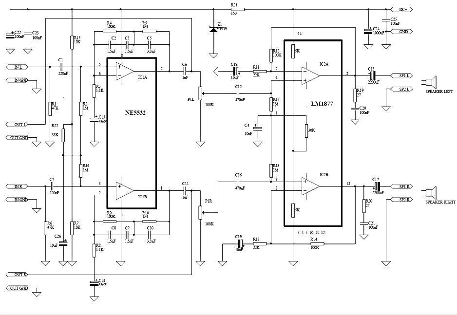 audio schematics  riaa equalizer