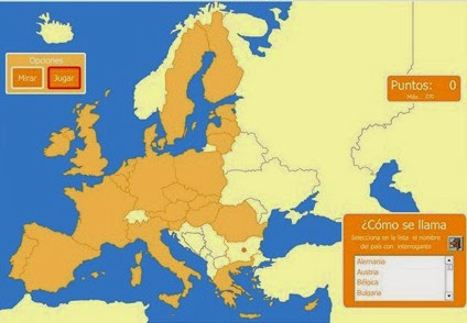 El estublog de 6B Mapas interactivos Unin Europea