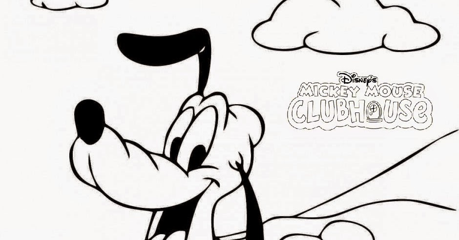 Disney Pluto The Dog Coloring Pages For Kids