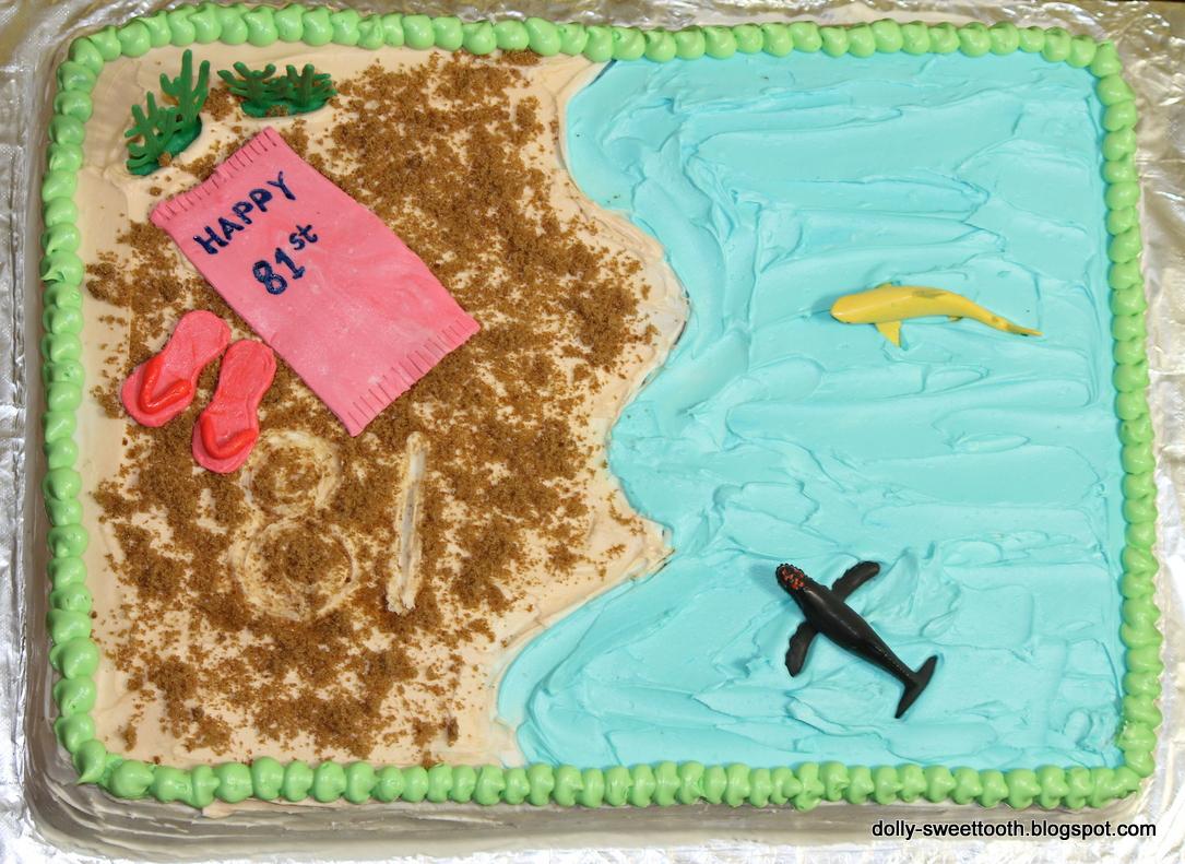 Sweet Tooth Beach Theme Birthday Cake