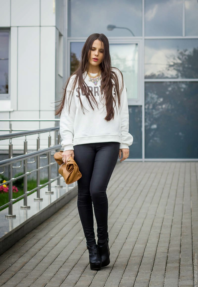 образ дня, look of the day, outfit, coated jeans, slogan top