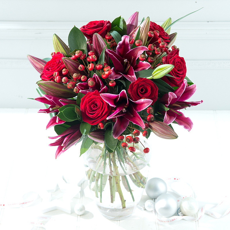 Win A Christmas Lily & Rose Bouquet From Debenhams Flowers - Mother ...