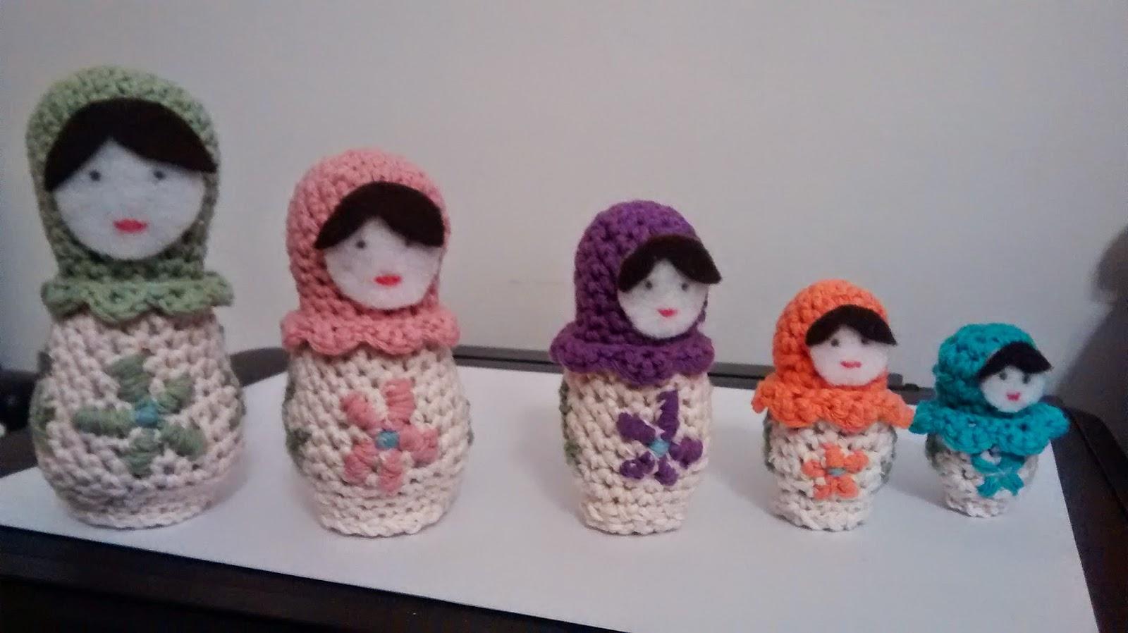 russian dolls matryoshkas de amigurumi