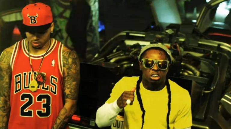 Lil Wayne & Chris Brown no clipe Look At Me Now