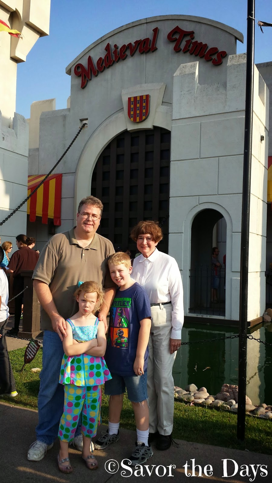 Family at Medieval Times in Dallas