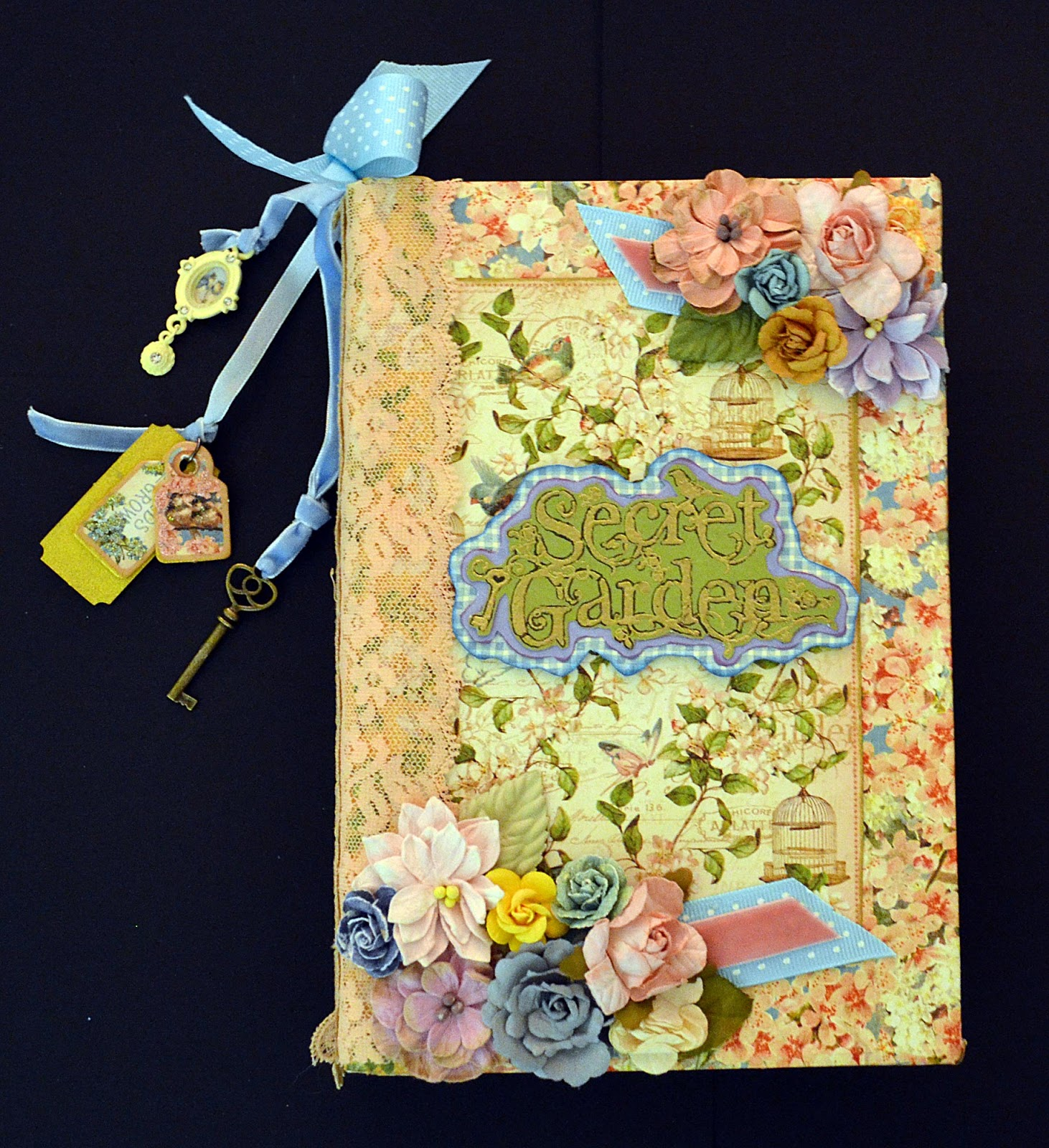 Book Cover Decoration : Lepcrafts g secret garden altered book art