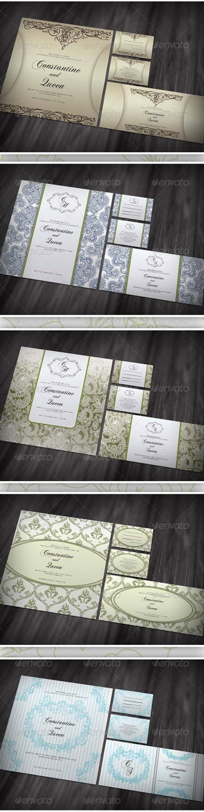 GraphicRiver 5 items Wedding Card ver 2.0