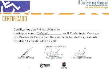 cidadania e 3º setor: II Conferência Municipal dos Direitos da Pessoa Com Deficiência