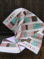 Upsized Charm Square Baby Quilt