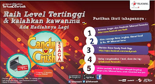 ? Buruan ikutan Game Candy Crush Saga Competition dari Telkomsel