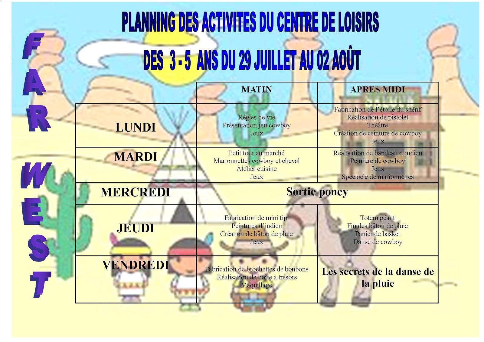 le centre de loisirs d 39 yerville planning des activit s des 3 5 ans du 29 juillet au 02 ao t. Black Bedroom Furniture Sets. Home Design Ideas