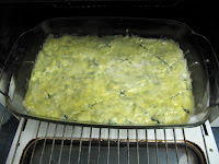 place spinach pie in the oven