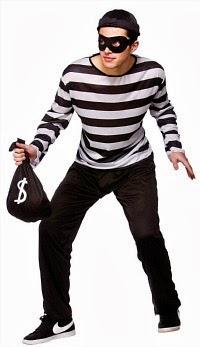 Men's Burglar Costume