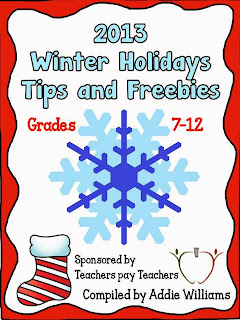 2013 Winter Holidays Tips and Freebies  cover