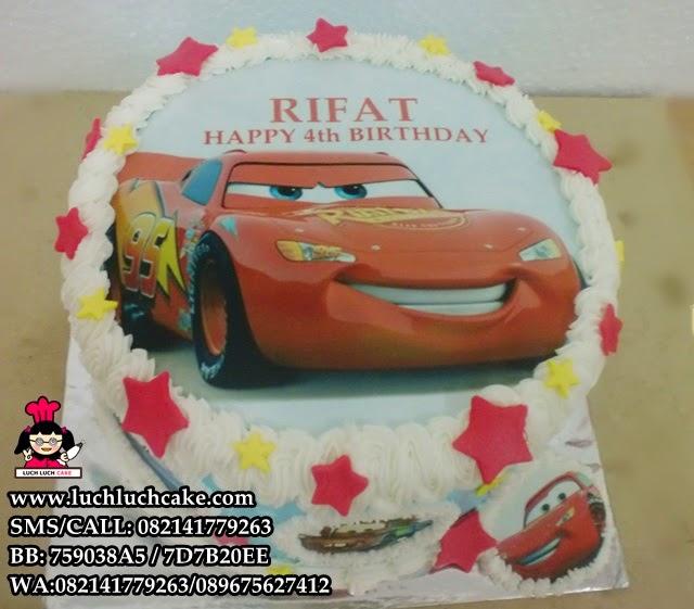Kue Tart Dengan Foto Tema Cars Daerah Surabaya - Sidoarjo