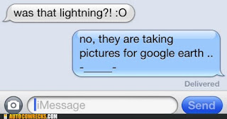 lightning is flash photography for google earth