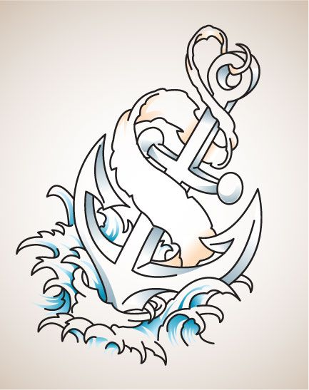 plantillas,de ,anclas, para, tatuar