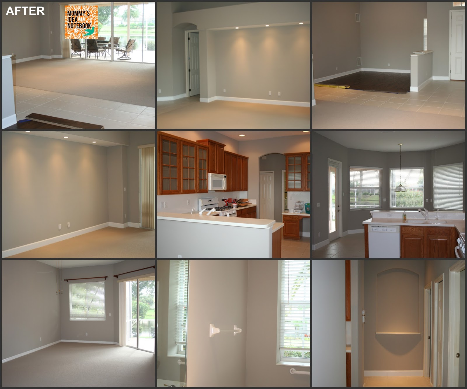 dunham design company the perfect gray paint color with floors to match. Black Bedroom Furniture Sets. Home Design Ideas