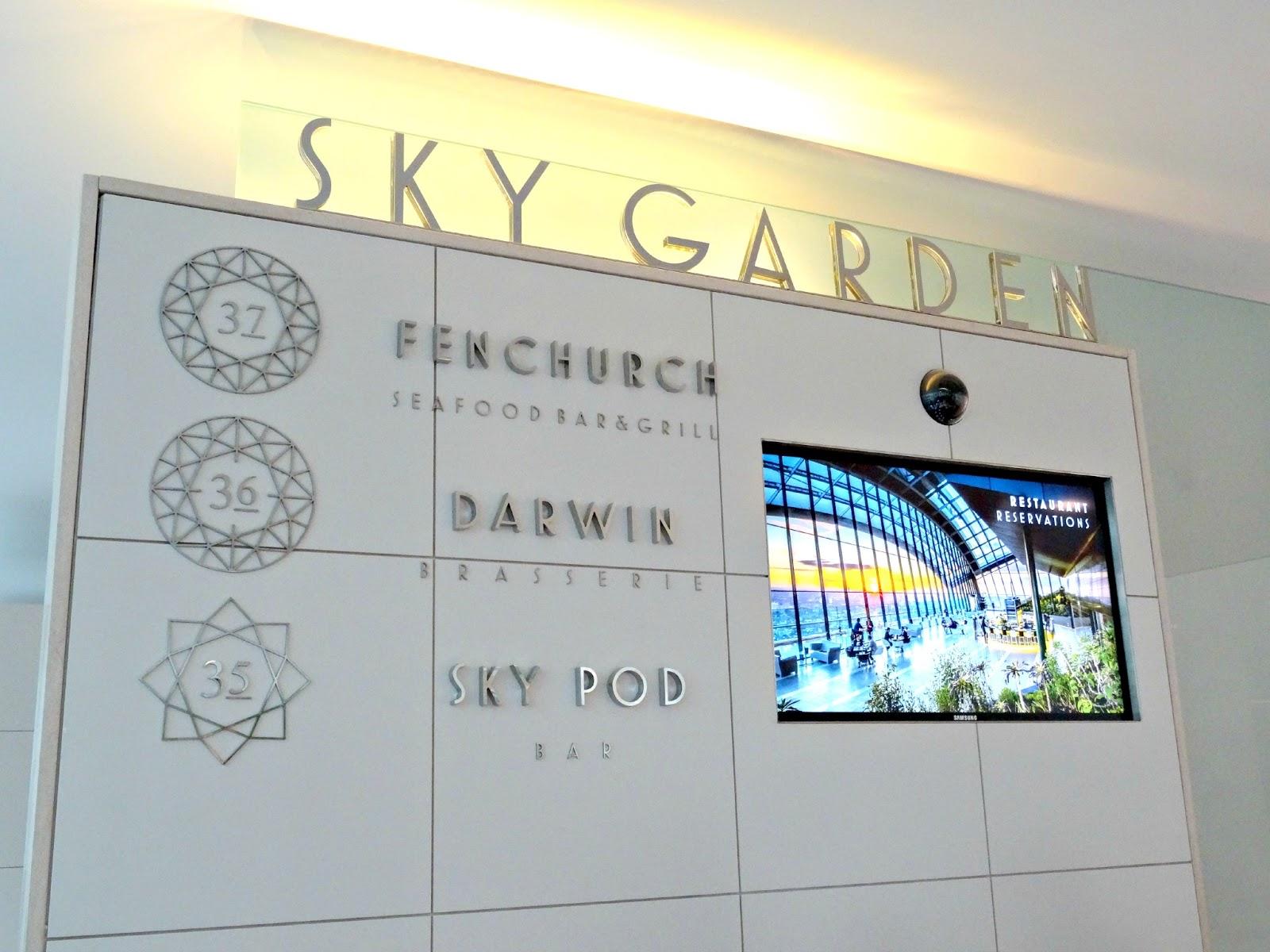 entrance to Sky Garden London