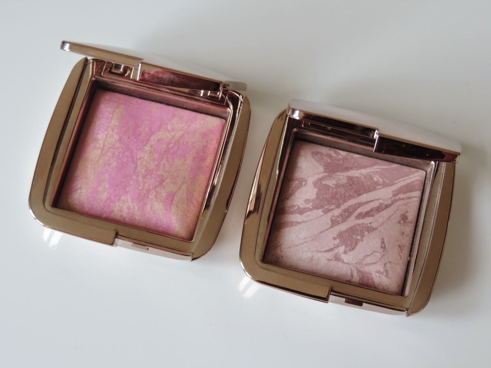 Hourglass Ambient Lighting Blush (from left): Radiant Magenta, Mood Exposure