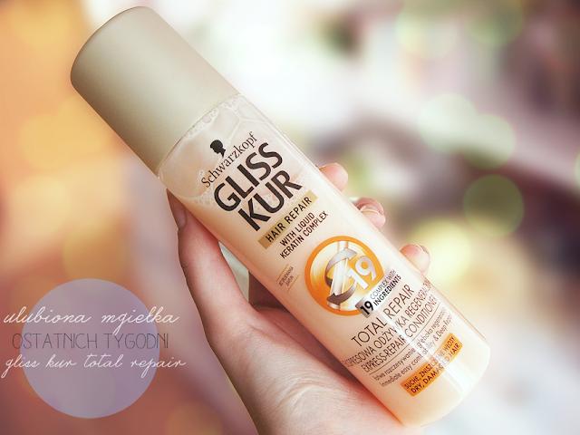 mgiełka Gliss Kur Total Repair, Ekspresowa odżywka regeneracyjna do włosów suchych i zniszczonych