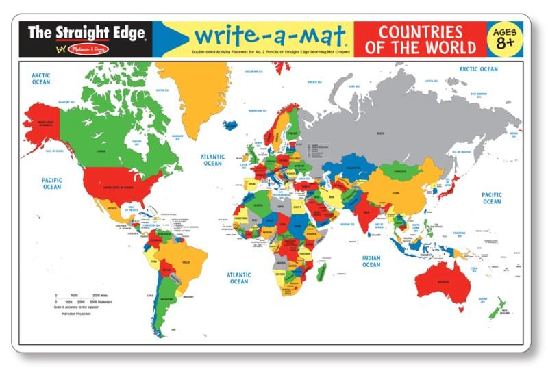 Melissa & Doug World Map Place Mat