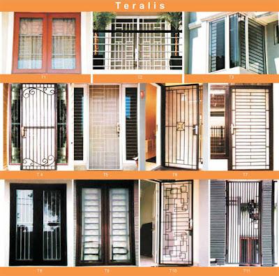 gambar motif teralis minimalis untuk rumah indah dan