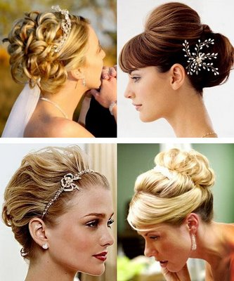 Messy upstyles for wedding or formal hair