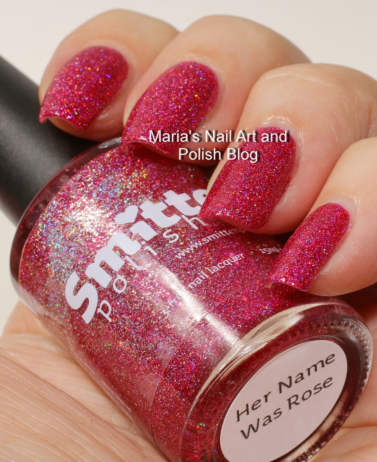Marias Nail Art And Polish Blog Smitten Polish Her Name Was Rose