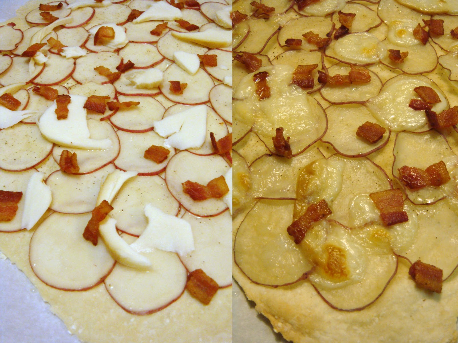 Potato Bacon Pizza adapted from Martha Stewart and America's Test ...