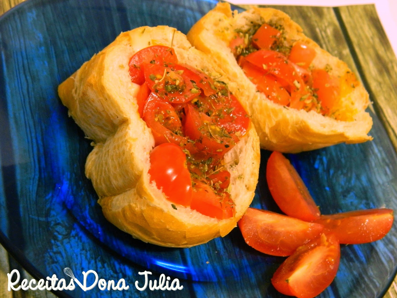 Bruschetta pomodoro, brusqueta com tomate