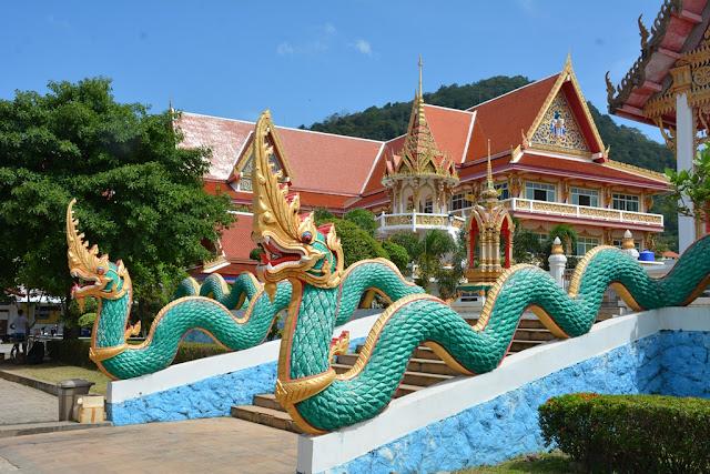 Wat Karon Phuket dragon snakes