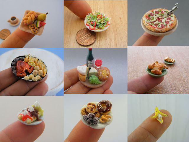 art, amazing, awesome, food miniature, tiny food sculptures, fun pics, pictures