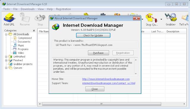 IDM 6.18 Full Crack Build 5 mới nhất ngày 30/10/2013