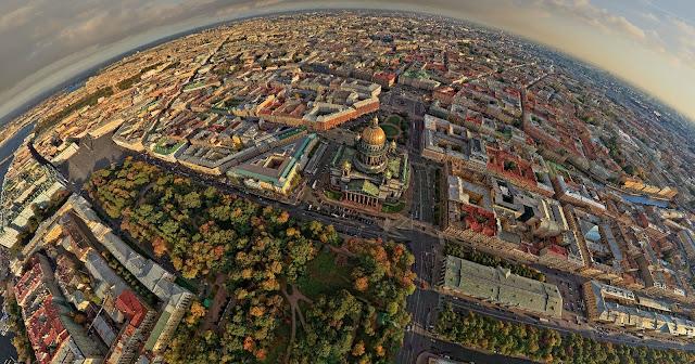 Санкт-Петербург из вертолета
