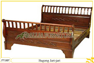 Tempat tidur kayu jati ukir jepara Bagong Jari murah.Jakarta