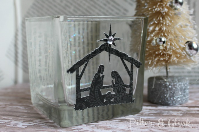 20 crafty days of christmas nativity candle holder