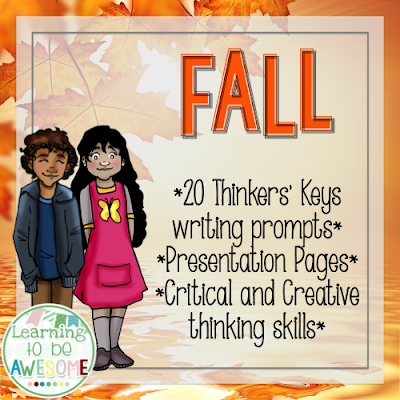 Fall themed Thinkers Keys FREEBIE - On Teachers Pay Teachers