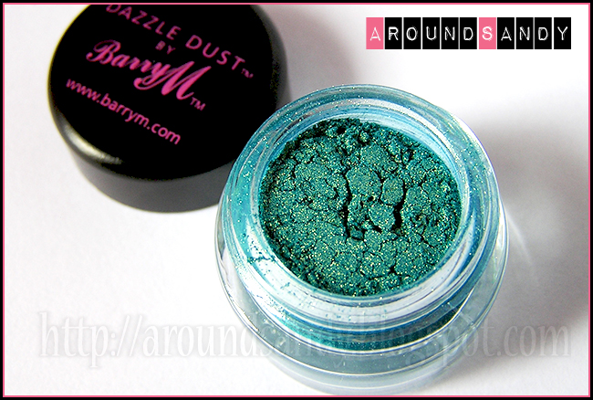Dazzle Dust 92 Aqua Gold Barry M swatches swatch pigmentos opinión review donde comprar