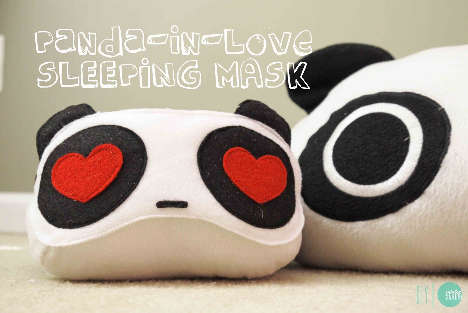 Diy Panda In Love Sleeping Mask