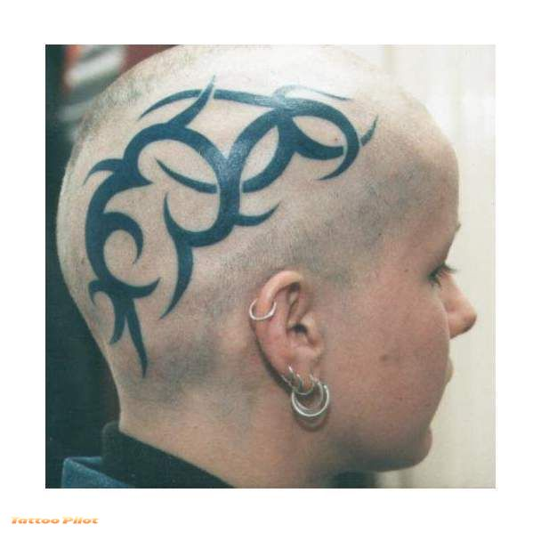 bald head tattoo info. Black Bedroom Furniture Sets. Home Design Ideas
