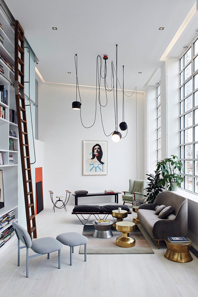 The design chaser aim pendant light by flos for Lampen replica