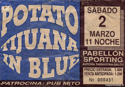 entrada de concierto de tijuana in blue