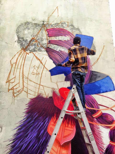 Street Art Mural By Mexican painter Curiot For The proyecto Frágil On The Streets Of Mexico. 6