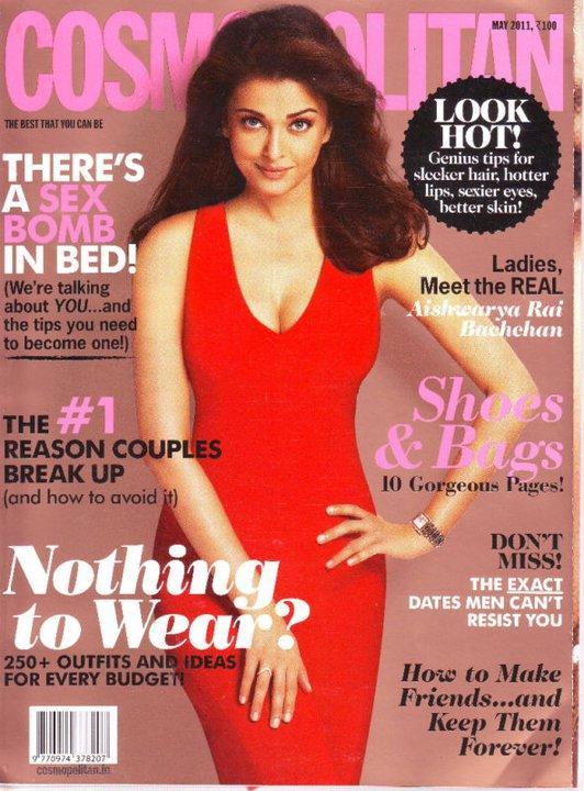 Aishwarya Rai on Cosmopolitan India Magazine Cover
