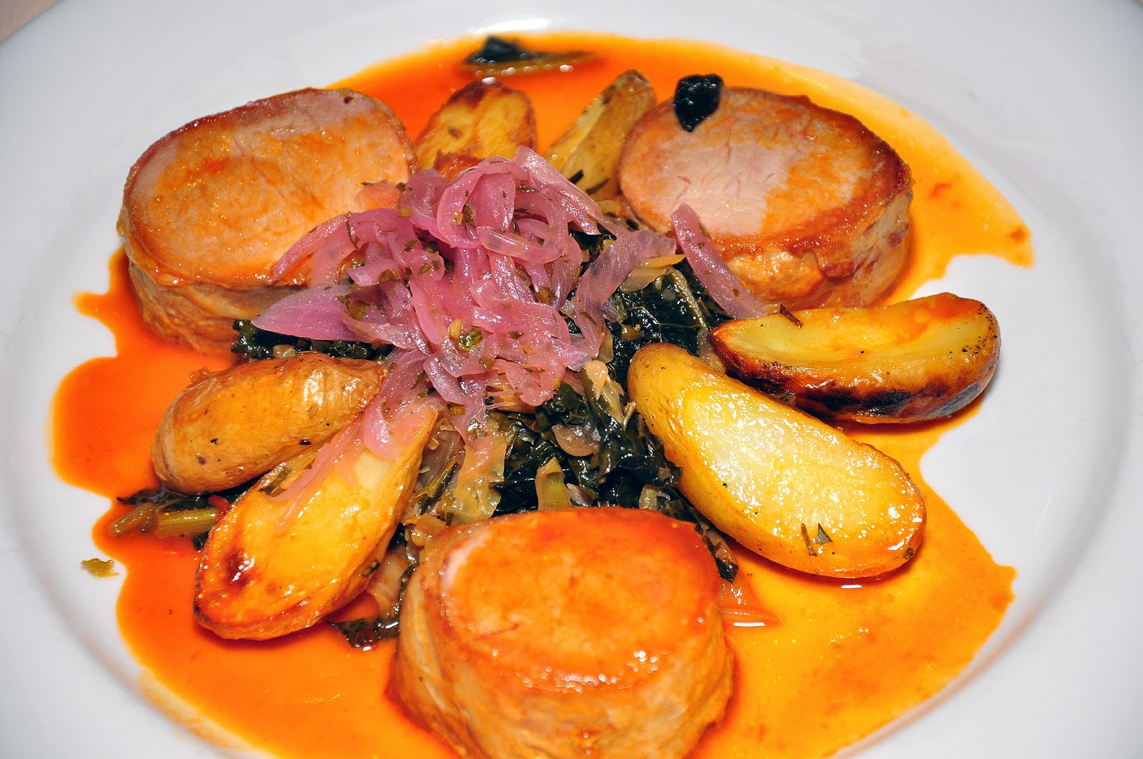 Broiled Chicken Over Braised Porcini And Savoy Cabbage Recipe ...