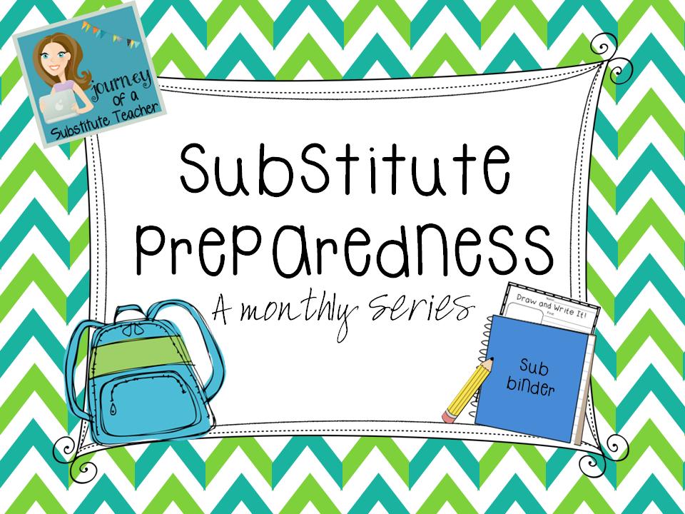 Substitute Preparedness #7: Sub Binder - Journey of a Substitute ...