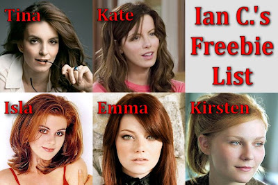 Tina Fey, Kate Beckinsale, Isla Fisher, Emma Stone and Kirsten Dunst